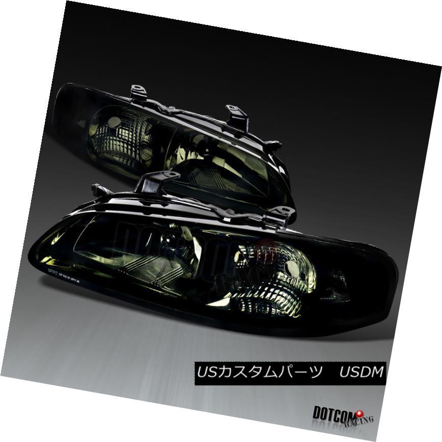 ヘッドライト For 2000-2003 Nissan Sentra OE Style Headlights Lamps Pair Chrome Smoke Lens 日産セントラOEスタイルヘッドライトランプペアクロームスモークレンズ