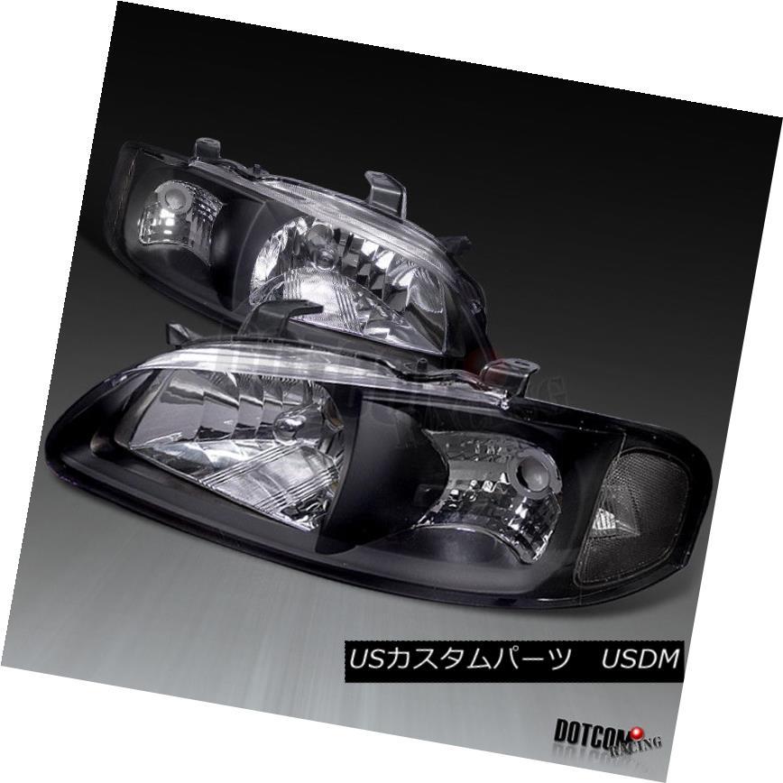 ヘッドライト For 00-03 Nissan Sentra GXE SE Headlights JDM Style Black Clear Lamps Left+Right 00?03日産センタラGXE SEヘッドライトJDMスタイルブラッククリアランプ左+右