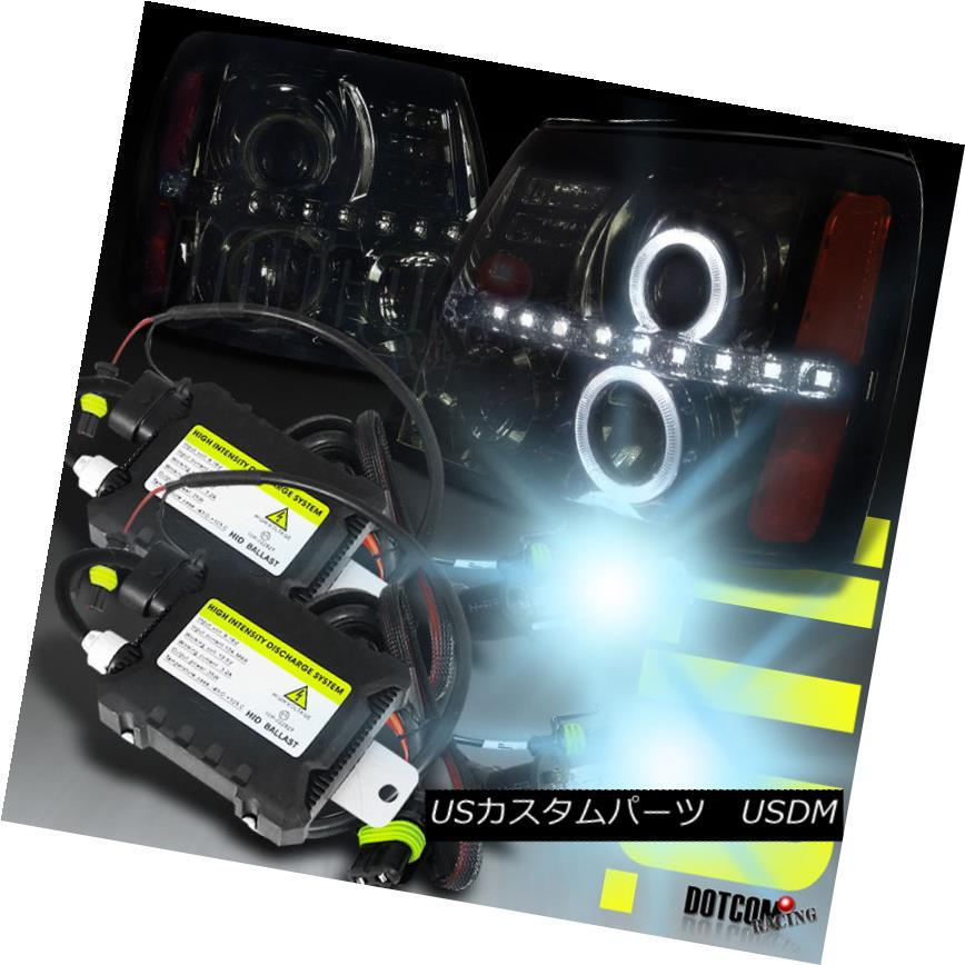 <title>車用品 バイク用品 >> パーツ ライト ランプ ヘッドライト 02-06 Escalade Smoke 着後レビューで 送料無料 Dual Halo LED 6000K Xenon Projector Headlight H1 Bulb 02-06エスカレードの煙デュアル ハローLED 6000Kキセノン プロジェクター ヘッドライトH1 6000Kバルブ</title>