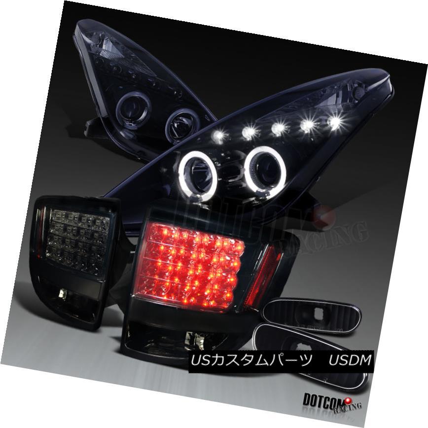 ヘッドライト Glossy Black 2000-2005 Celica Projector Headlights+Smoke Tail Lamps+Side Markers 光沢ブラック2000-2005 Celicaプロジェクターヘッドライト+スモール keテールランプ+サイドマーカー