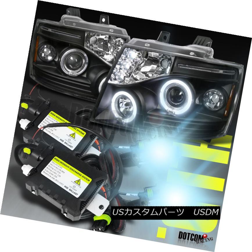ヘッドライト Slim HID+2007-2013 Avalanche Projector Headlights Black スリムHID + 2007-2013アバランシェプロジェクターヘッドライトブラック