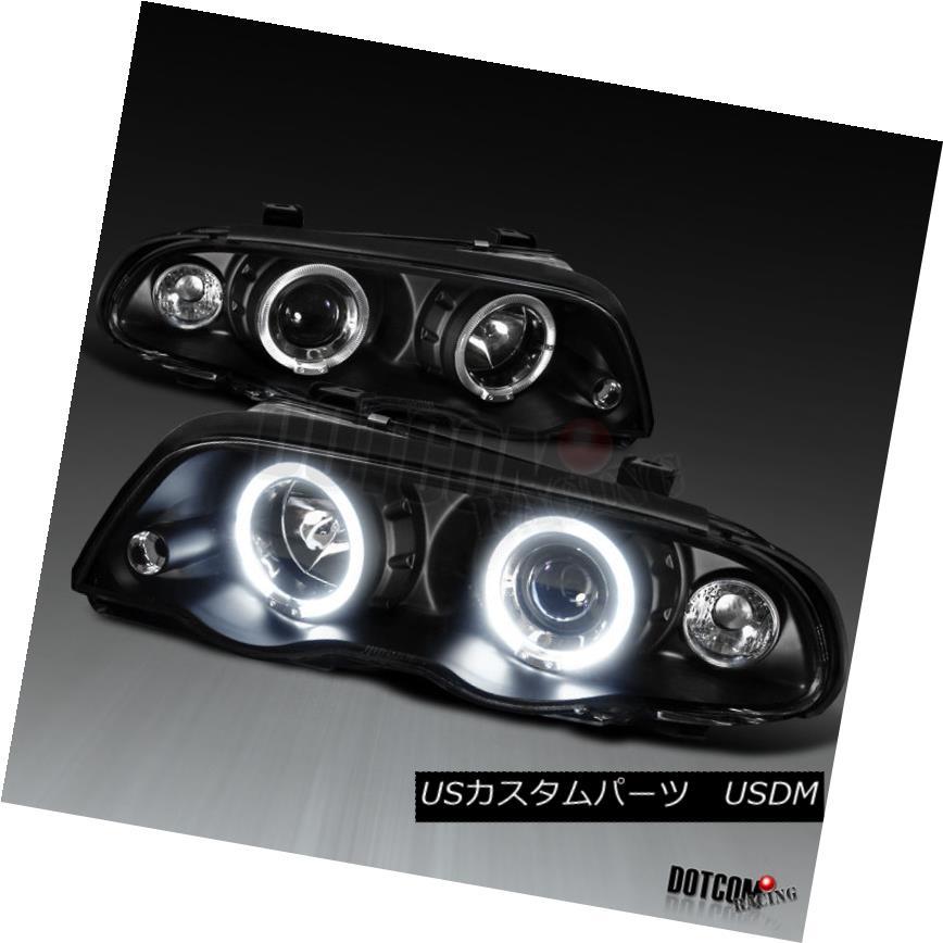 ヘッドライト 1999-2001 BMW E46 3 Series 4Dr Black LED Halo Projector Headlights Lamp LH+RH 1999-2001 BMW E46 3シリーズ4DrブラックLEDハロープロジェクターヘッドライトランプLH + RH