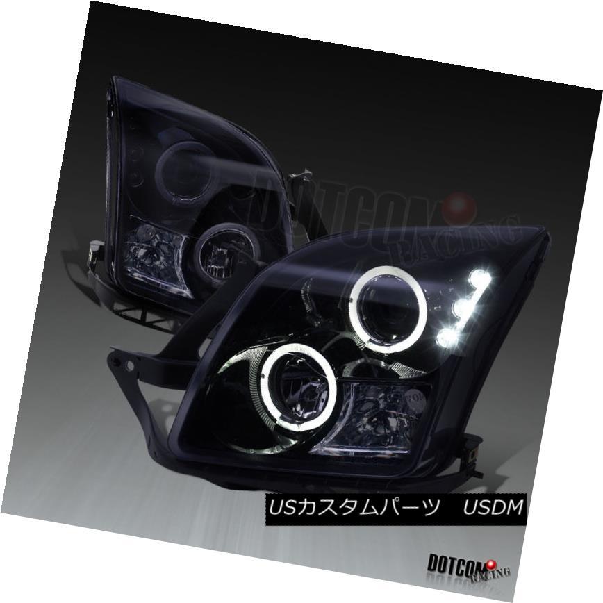 ヘッドライト Glossy Black 2006-2009 Ford Fusion Smoke LED Dual Halo Projector Headlights Pair 光沢のある黒2006-2009フォードフュージョン煙LEDデュアルハロープロジェクターヘッドライトペア