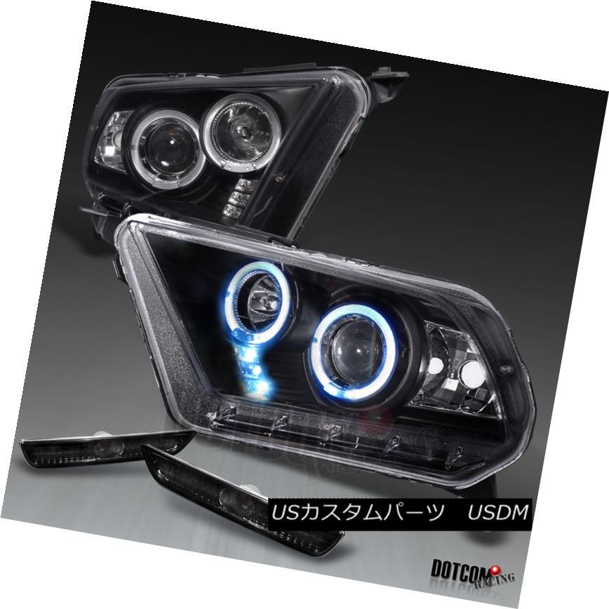 ヘッドライト 2010-2014 Ford Mustang Projector Headlights+Bumper Lamps 2010-2014 Ford Mustangプロジェクターヘッドライト+ Bum  /ランプ