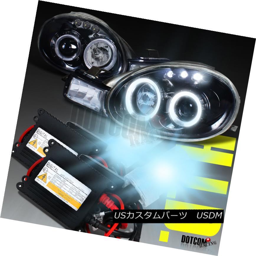 ヘッドライト Glossy Black 2000-2002 Dodge Neon Halo Projector Headlights+H1 6000K HID Kit Glossy Black 2000-2002 Dodge Neon Haloプロジェクターヘッドライト+ H1 6000K HIDキット