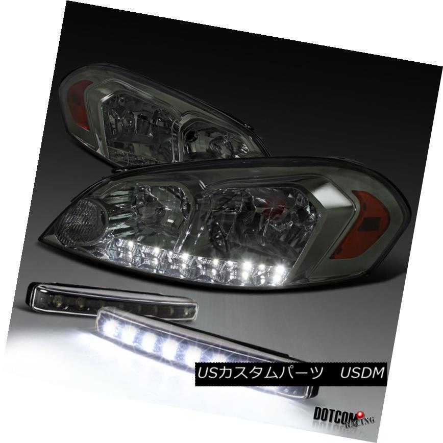 ヘッドライト 2006-2013 Impala 2006-2007 Monte Carlo Smoke LED Headlights+8-LED DRL Fog Lamps 2006-2013インパラ2006-2007モンテカルロ煙LEDヘッドライト+ 8-L  ED DRLフォグランプ
