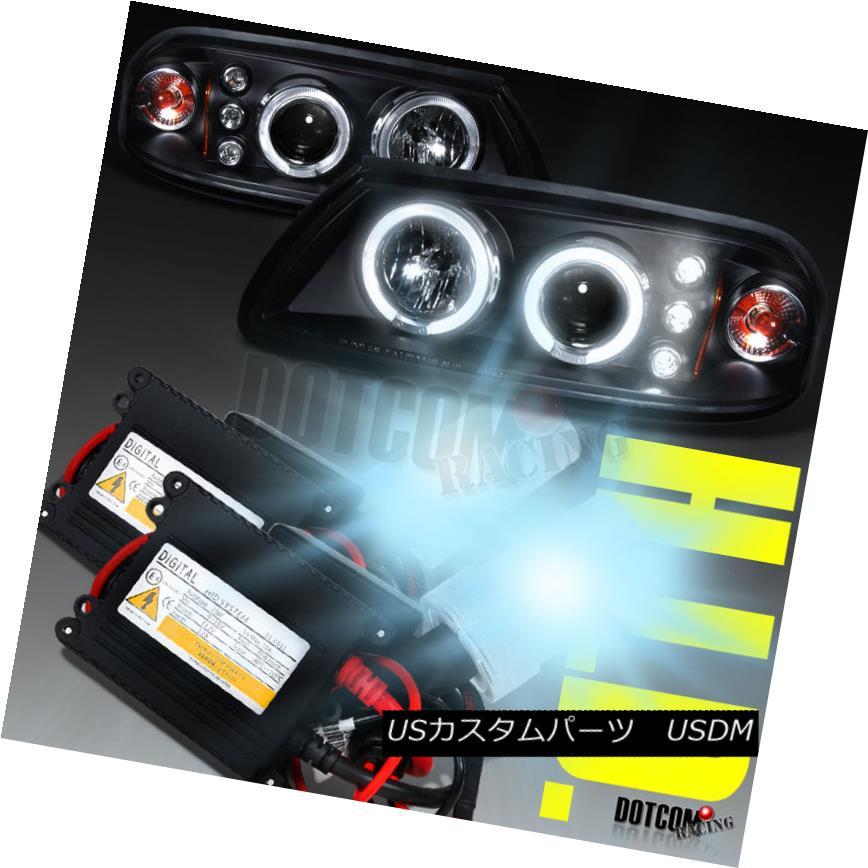 ヘッドライト 00-05 Impala Dual Halo Projector Headlights Black W/6000K HID H1 Xenon Lamps 00-05インパラデュアルヘイロープロジェクターヘッドライトブラックW / 6000K HID H1キセノンランプ