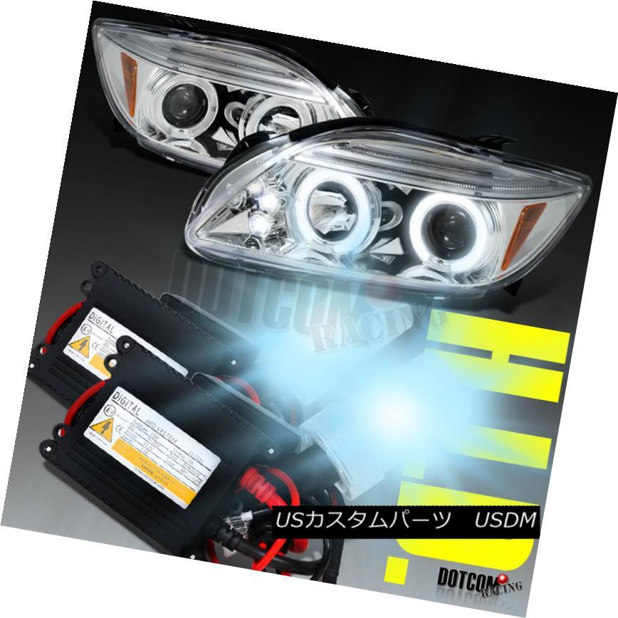 ヘッドライト 2005-2010 Scion tC Halo LED Headlights+H1 Low Beam Slim HID 6000K 2005-2010シオンtCハローLEDヘッドライト+ H1ロービームスリムHID 6000K