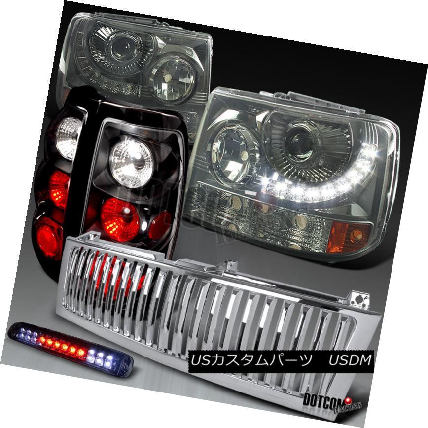 車用品 バイク用品 >> パーツ ライト 新作 大人気 ランプ ヘッドライト 99-02 Silverado Black 3Rd 新品 送料無料 Silveradoブラックプロジェクターヘッドライト+ ckクリアLEDテール3Rdブレーキ+グリル Headlights+Black Clear Projector LED Tail Bla Brake+Grille