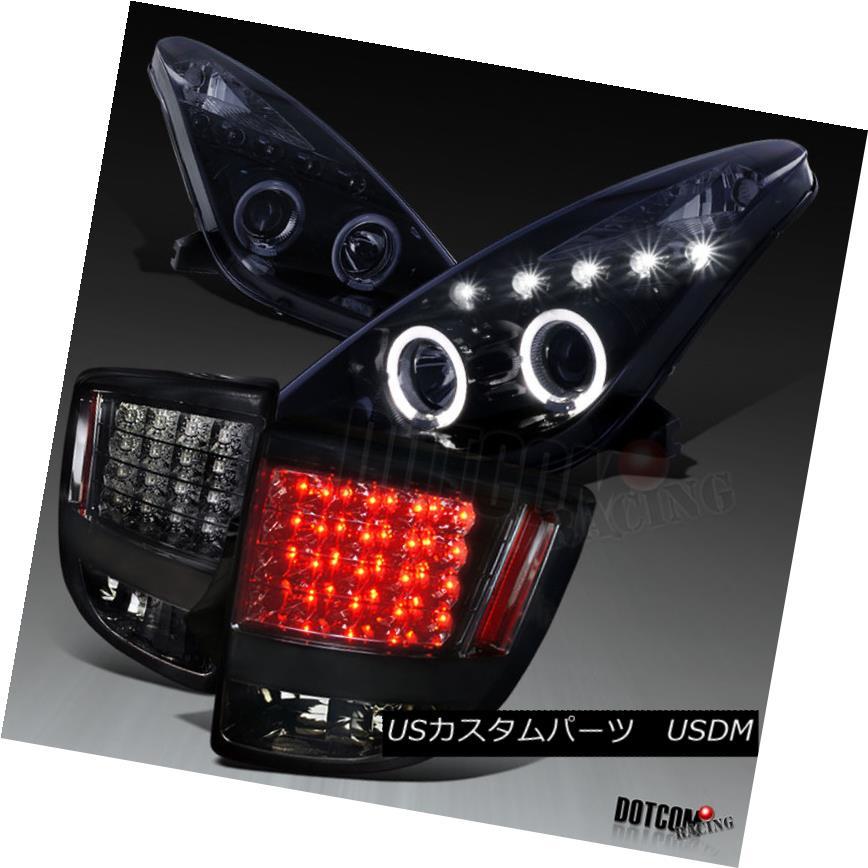 ヘッドライト 2000-2005 Toyota Celica Glossy Black Halo Projector Headlights+Smoke LED Tail 2000-2005トヨタセリカ光沢ブラックハロープロジェクターヘッドライト+スモール ke LEDテール