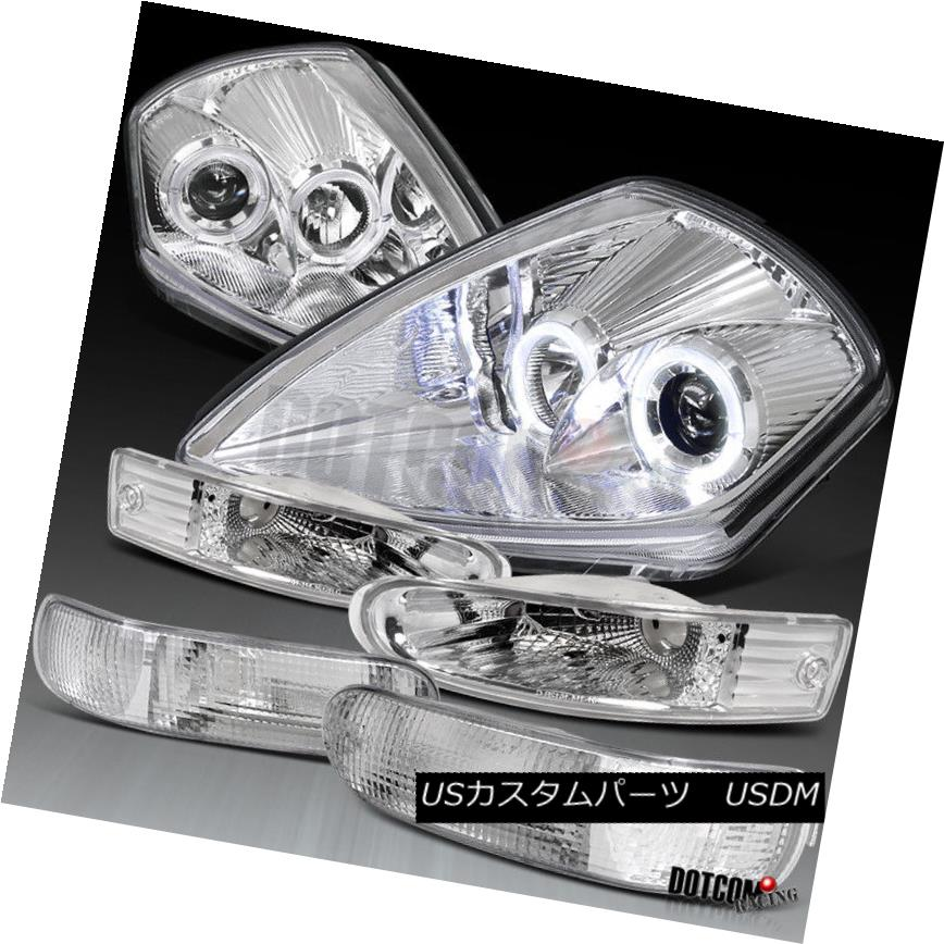 ヘッドライト 00-02 Eclipse Dual Halo Rim Projector Lamp Chrome nt Bumper +リアバンパーランプ 100%品質保証! Headlights+Front+Rear 倉 RimプロジェクターChromeヘッドライト+