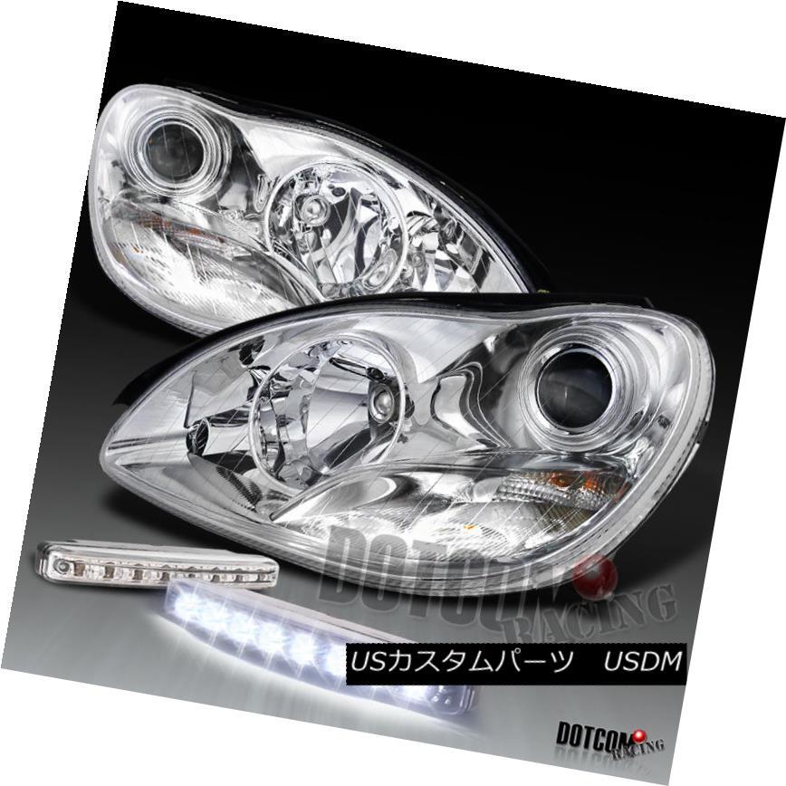 ヘッドライト Chrome 00-05Mercedes Benz S Class Projector Headlight+LED Fog DRL Lamp Chrome 00-05メルセデスベンツSクラスプロジェクターヘッドライト+ LEDフォグDRLランプ