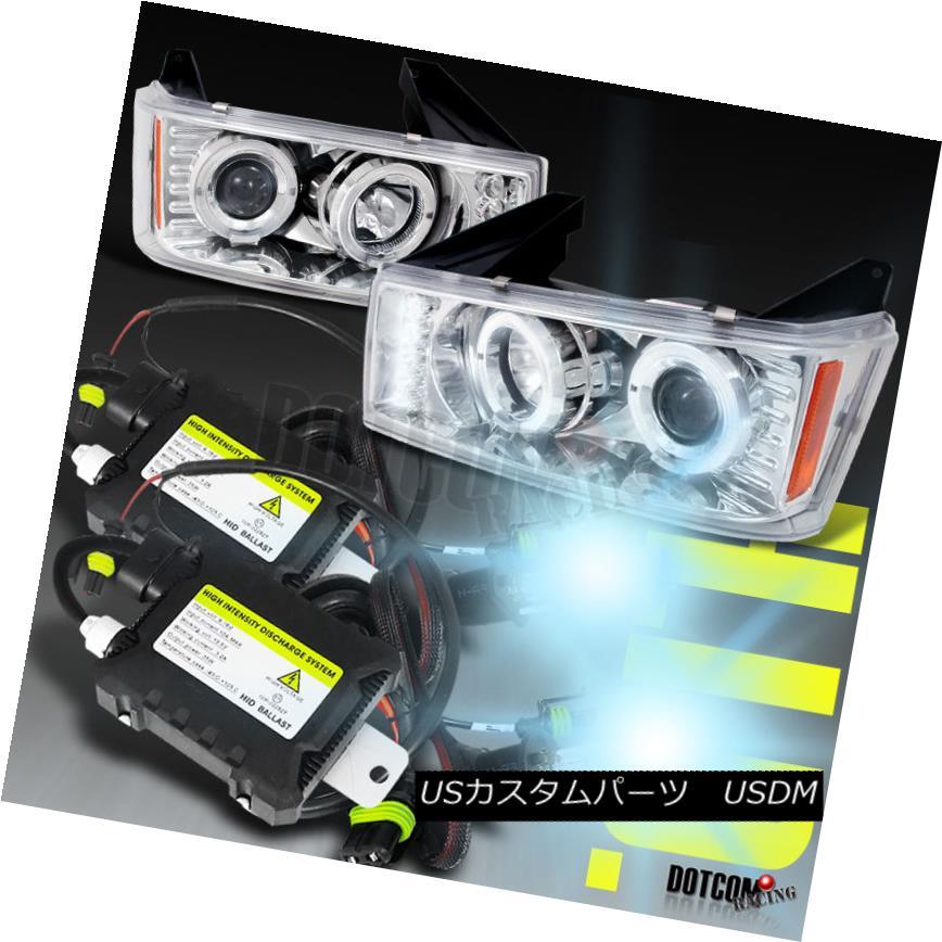ヘッドライト Slim HID+2004-2012 Colorado Projector Headlights Chrome スリムHID + 2004-2012コロラドプロジェクターヘッドライトクローム