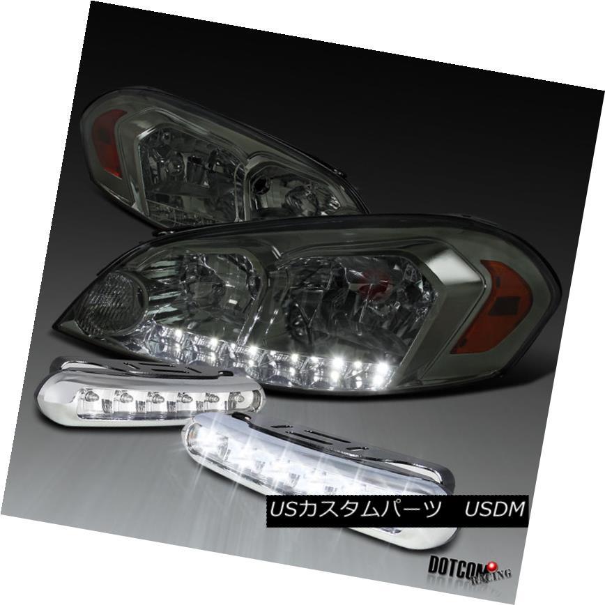 ヘッドライト 2006-2013 Impala 2006-2007 Monte Carlo Smoke LED Headlights+LED DRL Fog Lamps 2006-2013インパラ2006-2007モンテカルロ煙LEDヘッドライト+ LED DRLフォグランプ