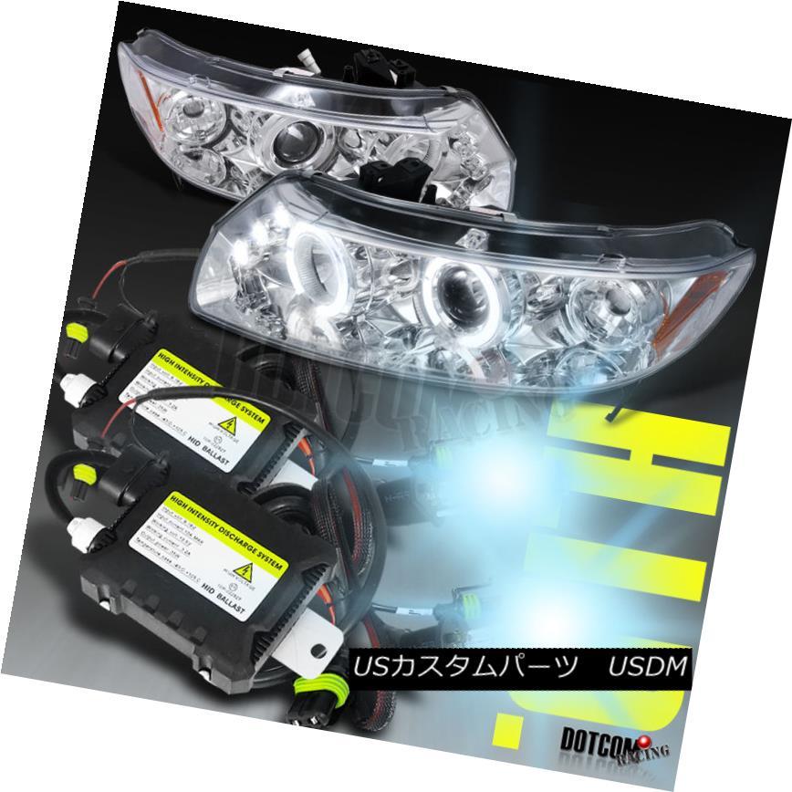 ヘッドライト Slim HID Conversion Kit+Fit 2006-2011 Honda Civic 2Dr Clear Projector Headlights スリムHID変換キット+フィット2006-2011ホンダシビック2Drクリアプロジェクターヘッドライト