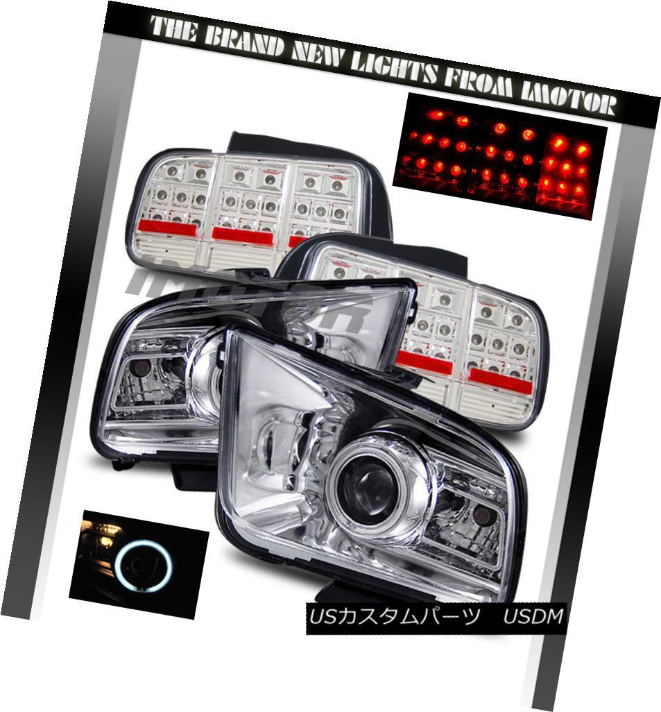 ヘッドライト 05-09 Mustang CCFL Projector Headlights/LED Tail Lights 05-09 Mustang CCFLプロジェクターヘッドライト/ LEDテールライト