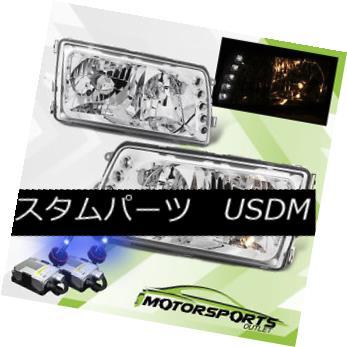 ヘッドライト 92-99 Mercedes Benz W140 S-Class 4D 4DR Sedan Chrome Headlights+10000K HID 92-99メルセデスベンツW140 Sクラス4D 4DRセダンクロームヘッドライト+ 100  00K HID