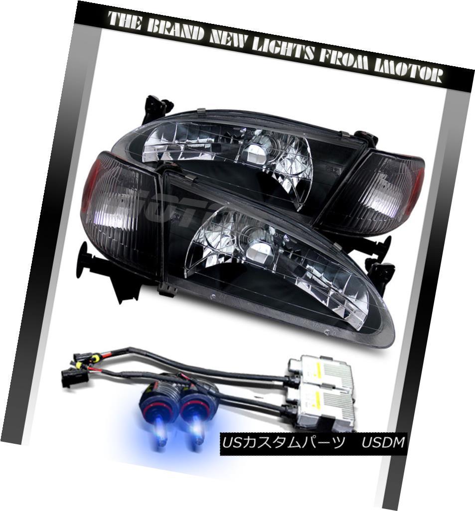 ヘッドライト 1998 1999 2000 Toyota Corolla Black ClearHeadlights Headlights+10000K HID 1998年1999年2000年トヨタカローラブラッククリアヘッドライトヘッドライト+ 100  00K HID