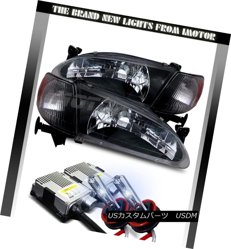 ヘッドライト 1998 1999 2000 Toyota Corolla Black Clear Headlights Headlights+8000K HID 1998年1999年2000年トヨタカローラブラッククリアヘッドライトヘッドライト+ 800  0K HID