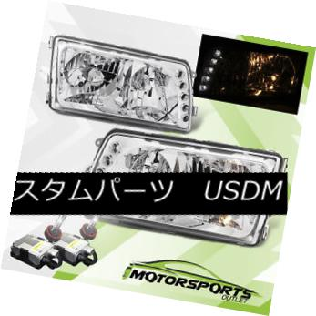 ヘッドライト 92-99 Mercedes Benz W140 S-Class 4D 4DR Sedan Chrome Headlights+6000K HID 92-99メルセデスベンツW140 Sクラス4D 4DRセダンクロームヘッドライト+ 600  0K HID