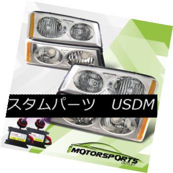 ヘッドライト 2003-2006 Chevy Silverado/2003 2004 2005 Chevy Avalanche Headlights w/12000K HID 2003-2006シボレーシルバラード/ 2003年2004シボレーアバランチヘッドライト(12000K HID搭載)