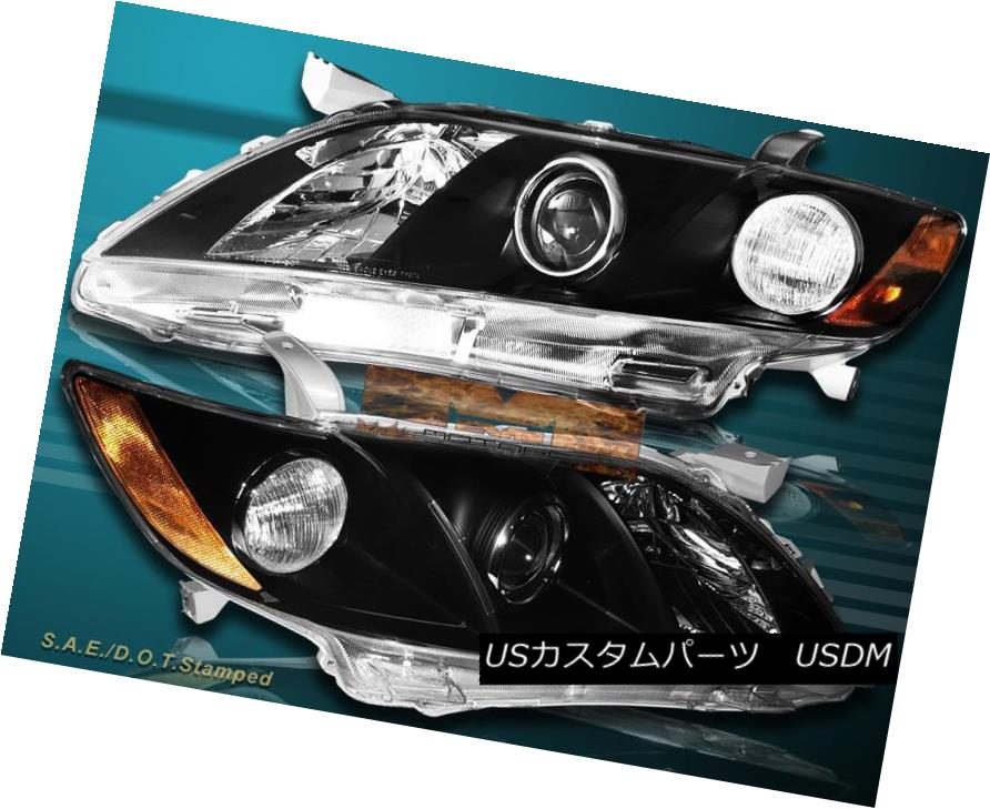 ヘッドライト 07 08 09 Toyota Camry LE SE XLE CE 4 Door Headlights Black Housing Clear Lens 07 08 09トヨタカムリLE SE XLE CE 4ドアヘッドライトブラックハウジングクリアレンズ