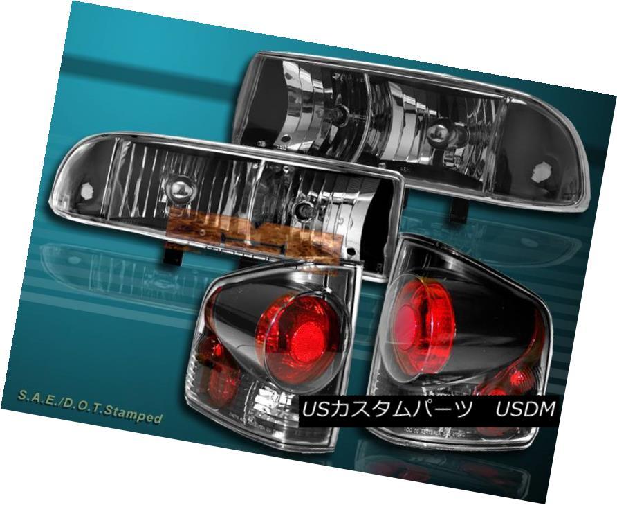 ヘッドライト 98 99 00-04 CHEVY PICKUP S10 JDM BLACK HEADLIGHTS + TAIL LIGHT DARK BLACK NEW 98 99 00-04 CHEVYピックアップS10 JDMブラックヘッドライト+テールライトダークブラックNEW