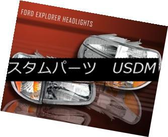 ヘッドライト 1995-97-2001 FORD EXPLORER CLEAR HEADLIGHTS+SIGNAL BUMPER 4 PIECES 98 99 00 1995-97-2001 FORD EXPLORER CLEAR HEADLIGHTS + SIG ナンパバンパー4枚98 99 00