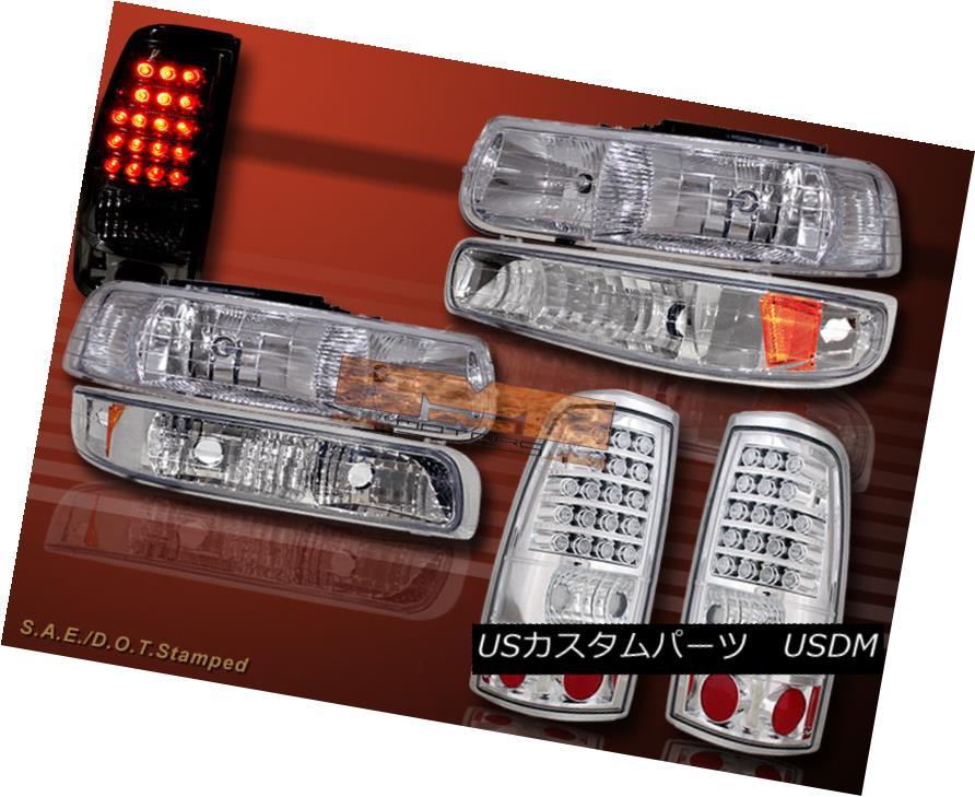 ヘッドライト 1999-2002 CHEVY SILVERADO CRYSTAL HEADLIGHTS & BUMPER LIGHTS & LED TAIL LIGHTS 1999-2002 CHEVY SILVERADO CRYSTAL HEADLIGHTS& バンパーライト& LEDテールライト