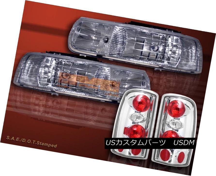 ヘッドライト 2000-06 CHEVY SUBURBAN TAHOE HEADLIGHTS+ CLEAR TAIL LIGHTS 01 02 03 04 05 2000-06 CHEVY SUBURBAN TAHOEヘッドライト+クリアテールライト01 02 03 04 05