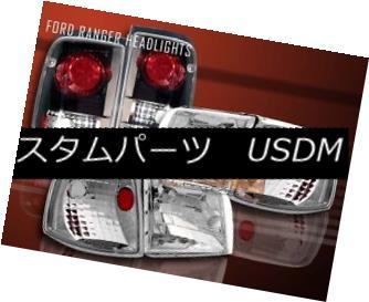 ヘッドライト 1993-1997 FORD RANGER CRYSTAL CLEAR HEADLIGHTS + CORNER + BLACK TAIL LIGHTS 1993-1997 FORD RANGER CRYSTALクリアヘッドライト+コーナー+ブラックテールライト