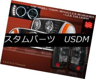 ヘッドライト 2000-06 GMC YUKON XL HEADLIGHTS HALO BLK + TAIL LIGHTS LED DARK SMOKE 1500 2500 2000-06年GMC YUKON XLヘッドライトハローBLK +テールライトLED DARK SMOKE 1500 2500