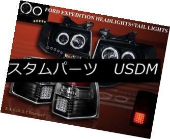 ヘッドライト 2007-2011 FORD EXPEDITION 2 HALO LED PROJECTOR HEADLIGHTS CCFL + LED TAIL LIGHTS 2007年?2011年フォード・エキスパート2ハロー・LEDプロジェクターヘッドライトCCFL + LEDテールライト