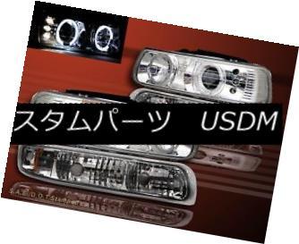 ヘッドライト 99-02 CHEVY SILVERADO 00-06 SUBURBAN/TAHOE PROJECT LED HEADLIGHTS+BUMPER LIGHT 99-02 CHEVY SILVERADO 00-06 SUBURBAN / TAHOEプロジェクトLEDヘッドライト+ BUM  PERライト