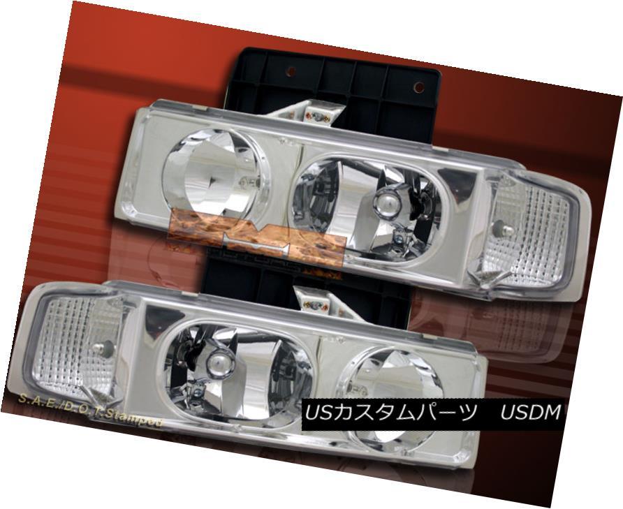 ヘッドライト 95-05 Chevy Astro Van / GMC Safari Crystal Chrome Clear Headlights Pair 95-05 Chevy Astro Van / GMC Safariクリスタルクロームクリアヘッドライトペア