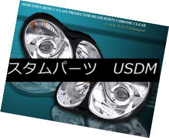 ヘッドライト 04-07 MERCEDES C230 C240 C280 C320 C32 AMG PROJECTOR HEADLIGHTS CHROME 04-07メルセデスC230 C240 C280 C320 C32 AMGプロジェクターヘッドライトクローム