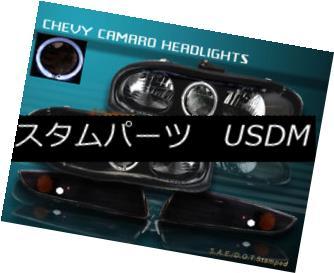 ヘッドライト 98-02 CHEVY CAMARO HEADLIGHTS HALO BLACK+ BUMPER 99 01 98-02 CHOVY CAMARO HEADLIGHTSハローブラック+バンパー99 01