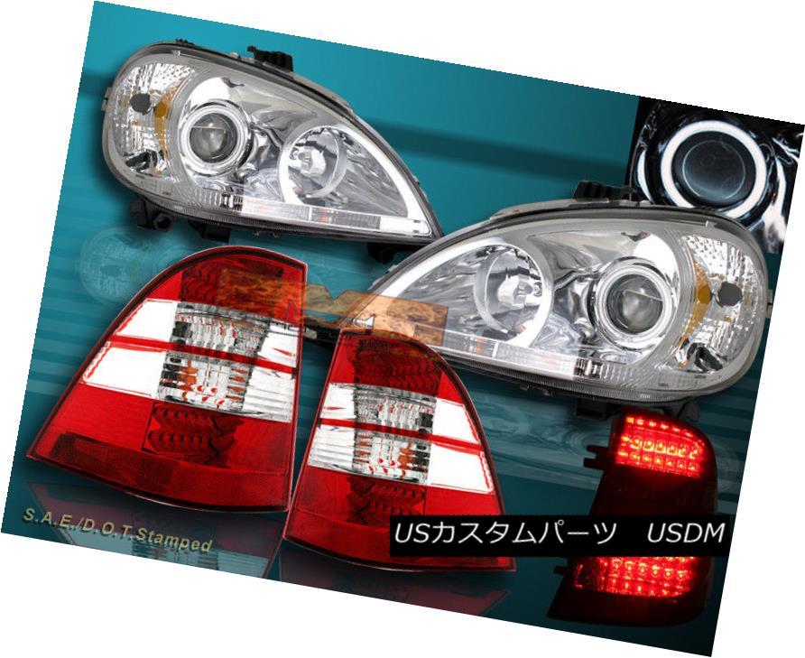 ヘッドライト 98-01 MERCEDES BENZ HALO CCFL PROJECTOR HEADLIGHTS W163 M-CLASS+ TAIL LIGHTS LED 98-01メルセデスベンツハローCCFLプロジェクターヘッドライトW163 M-CLASS + TAIL LIGHTS LED