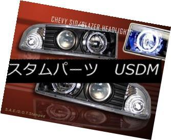 ヘッドライト 1998-2004 CHEVY S10/BLAZER JDM BLACK HALO PROJECTOR HEADLIGHTS NEW 1998-2004 CHEVY S10 / BLAZER JDM BLACKハロープロジェクターヘッドライトNEW