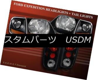 ヘッドライト 97-02 FORD EXPEDITION BLK HEADLIGHTS + CORNER + TAIL LIGHTS DARK SMOKE 97-02 FORD EXPEDITION BLKヘッドライト+コーナー+テールライトダークソーク