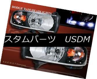 ヘッドライト 1994 - 2001 DODGE RAM 1500 2500 3500 PICKUP BLACK HEADLIGHTS LED AMBER 1994 - 2001 DODGE RAM 1500 2500 3500ピックアップブラックヘッドライトLEDアンバー