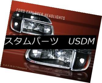 ヘッドライト 1995-01 FORD EXPLORER / 97 MERCURY MOUNTAINEER HEADLIGHTS+SIGNAL BUMPER 4 PCS 1995-01 FORD EXPLORER / 97水中マウンテニアヘッドライト+ SIG NAL BUMPER 4 PC