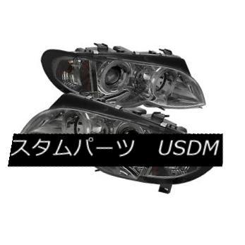 ヘッドライト BMW 02-05 E46 3-Series 4DR Smoke Dual Halo Projector Headlights 325i 330i Sedan BMW 02-05 E46 3シリーズ4DRスモークデュアルハロープロジェクターヘッドライト325i 330iセダン