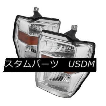 ヘッドライト Ford 08-10 F250 F350 F450 F550 SuperDuty Chrome Housing Replacment Headlights フォード08-10 F250 F350 F450 F550スーパーデューティクロームハウジング交換用ヘッドライト