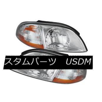 ヘッドライト Ford 99-03 Windstar Chrome Housing Replacment Headlights Lamps Pair Set フォード99-03 Windstarクロムハウジング交換ヘッドライトランプペアセット