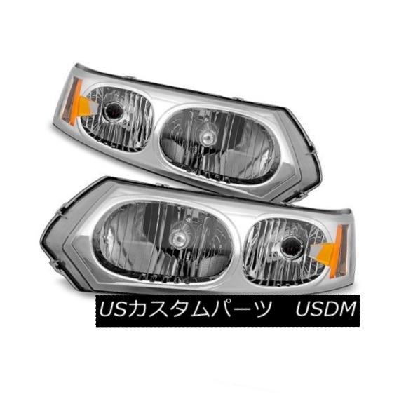 ヘッドライト Saturn 03-07 Ion 4dr Sedan Replacement Headlights Left + Right Set 1 2 3 サターン03-07イオン4drセダン交換ヘッドライト左+右セット1 2 3