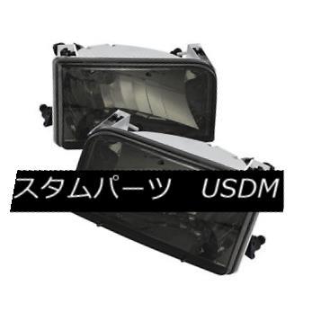 ヘッドライト Ford 92-96 Bronco / F150 / F250 / F350 Smoke Lens Replacment Headlights Pair フォード92-96ブロンコ/ F150 / F250 / F350スモークレンズ交換ヘッドライトペア