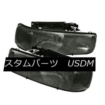 ヘッドライト Chevy 99-02 Silverado 00-06 Tahoe Suburban Smoke Crystal Replacement Headlights Chevy 99-02 Silverado 00-06タホ郊外の煙クリスタル交換ヘッドライト