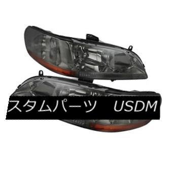 ヘッドライト Honda 98-02 Accord 2/4dr Smoke Lens Replacement Headlights Lamp EX DX LX ホンダ98-02アコード2 / 4drスモークレンズ交換用ヘッドライトランプEX DX LX
