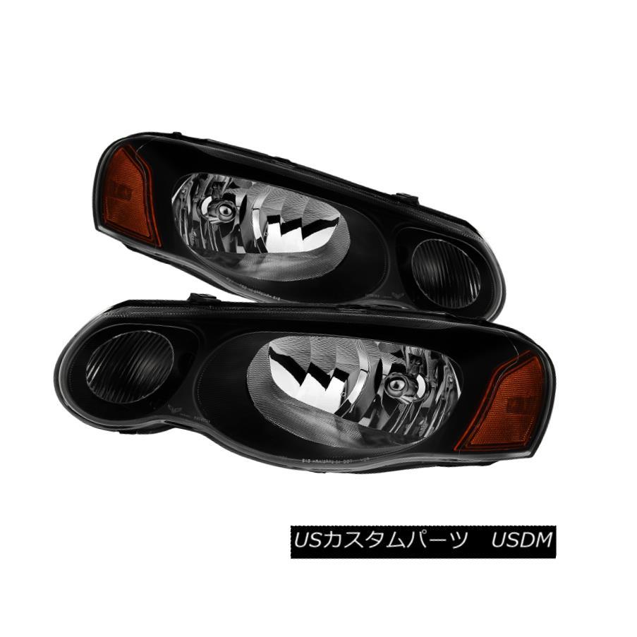 ヘッドライト Chrysler 04-06 Sebring 4Dr / Convertible Black Housing Replacement Headlights クライスラー04-06セブリング4Dr /コンバーチブルブラックハウジング交換用ヘッドライト
